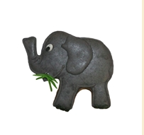Elefant, Pepperkakeform, kakeutstikker