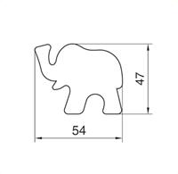 Elefant, Pepperkakeform, kakeutstikker