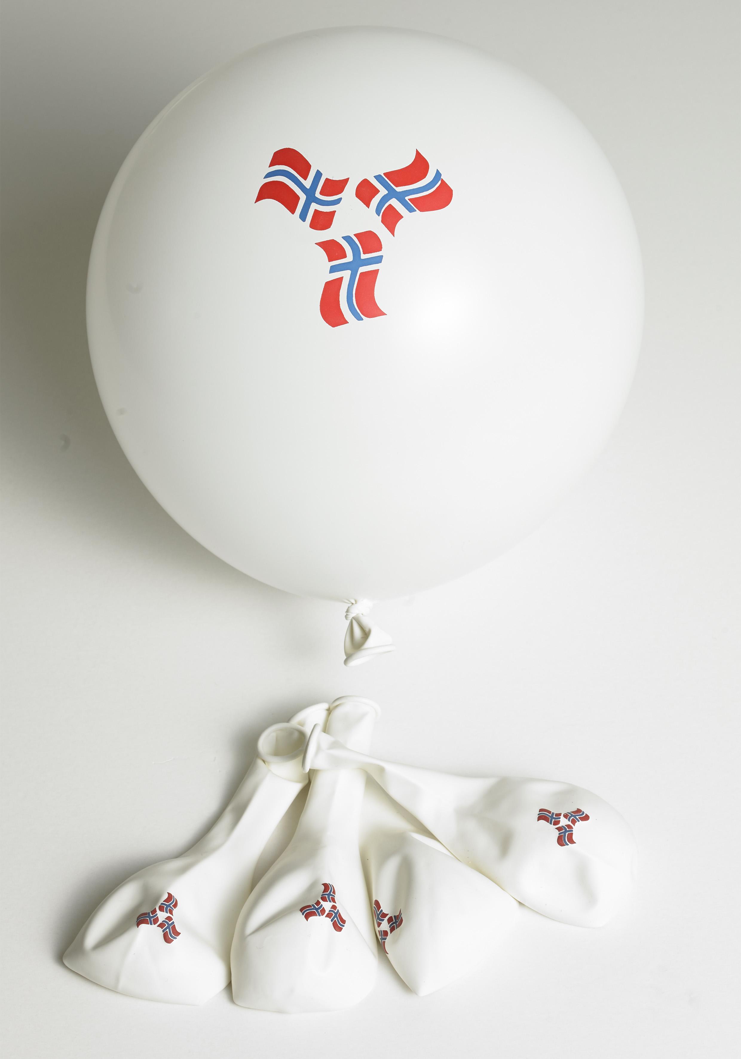 Ballonger med norske flagg