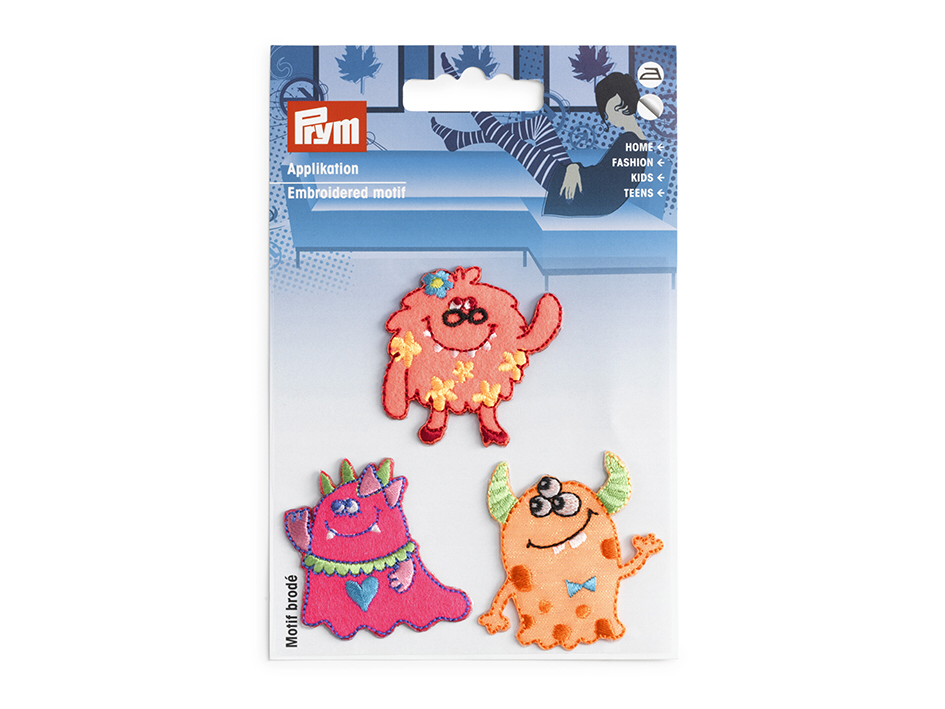 Prym Strykemerke - Monsters pink