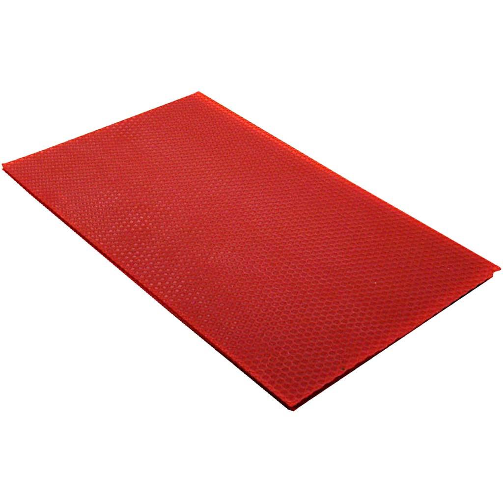 Bivoksplater, 20x33 cm, 2 mm, Rød, 1 Stk.