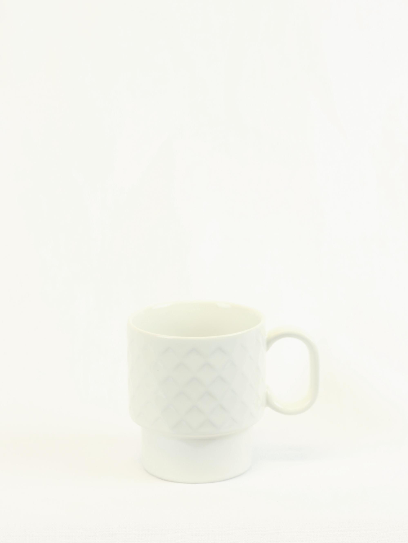 Kaffekopp COFFE & MORE vit