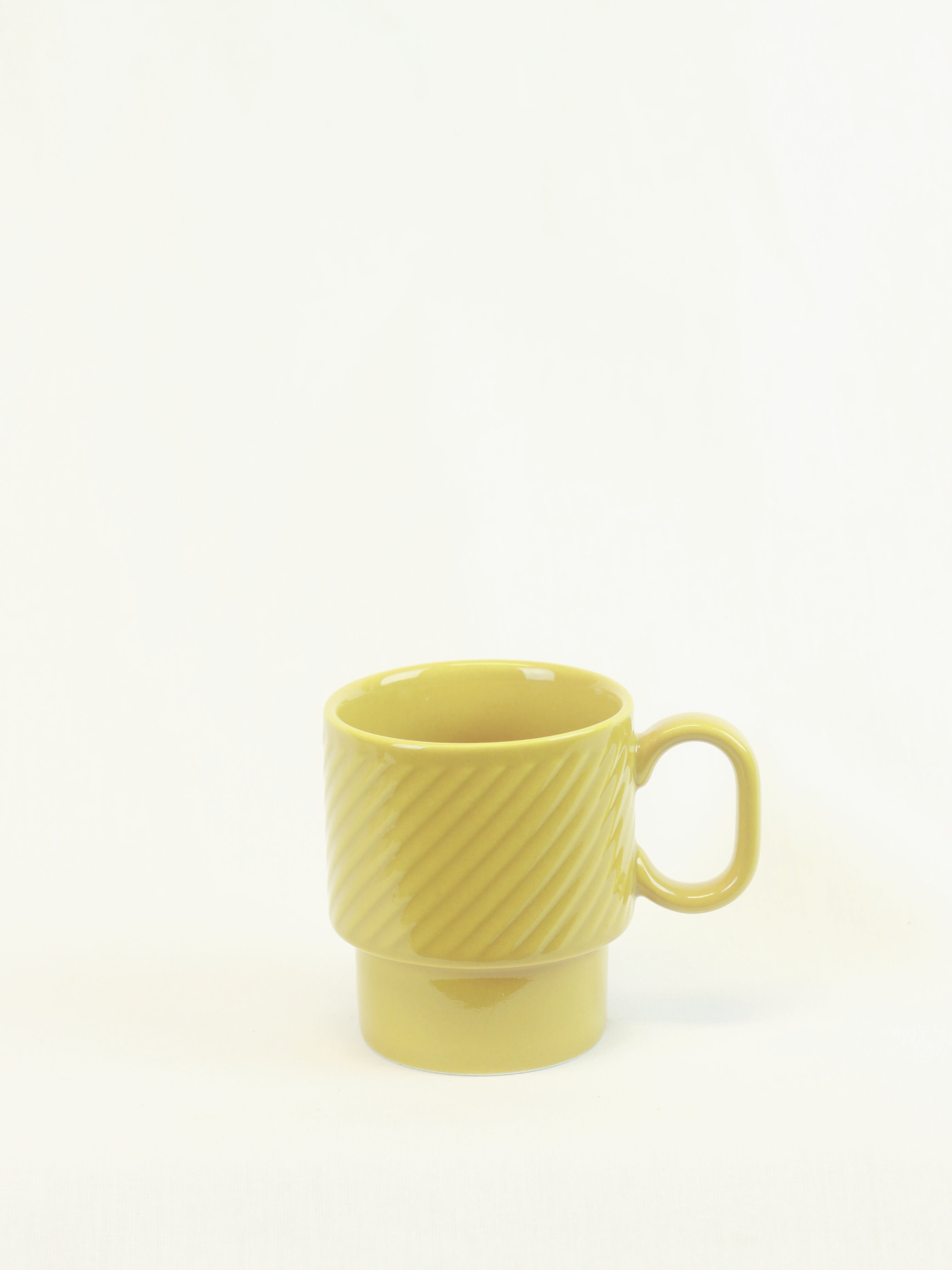 Kaffekopp COFFE & MORE gul