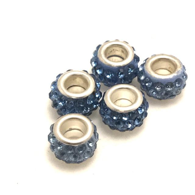 Pärla, Stort hål, Ljusblå*