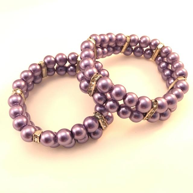 Lila Dubbelt Armband*