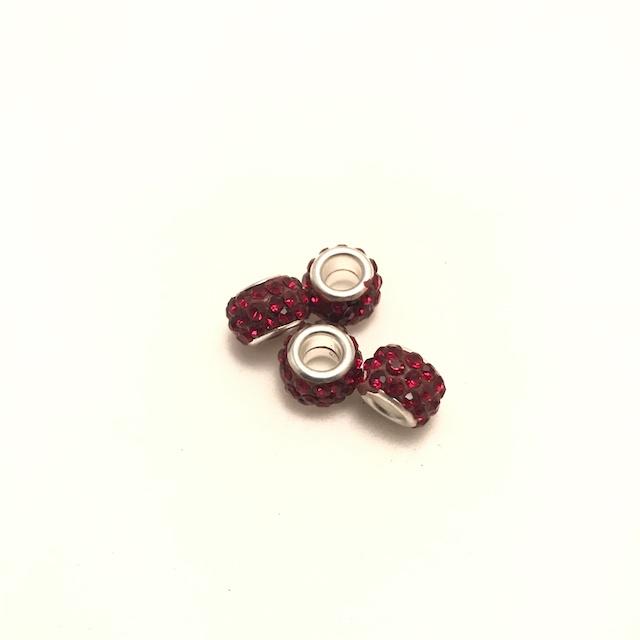 Pärla, Stort hål, Röd*