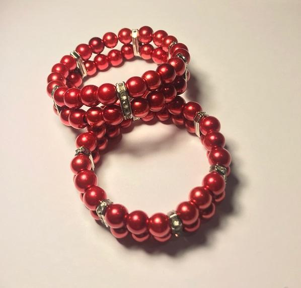 Rött Dubbelt Armband*