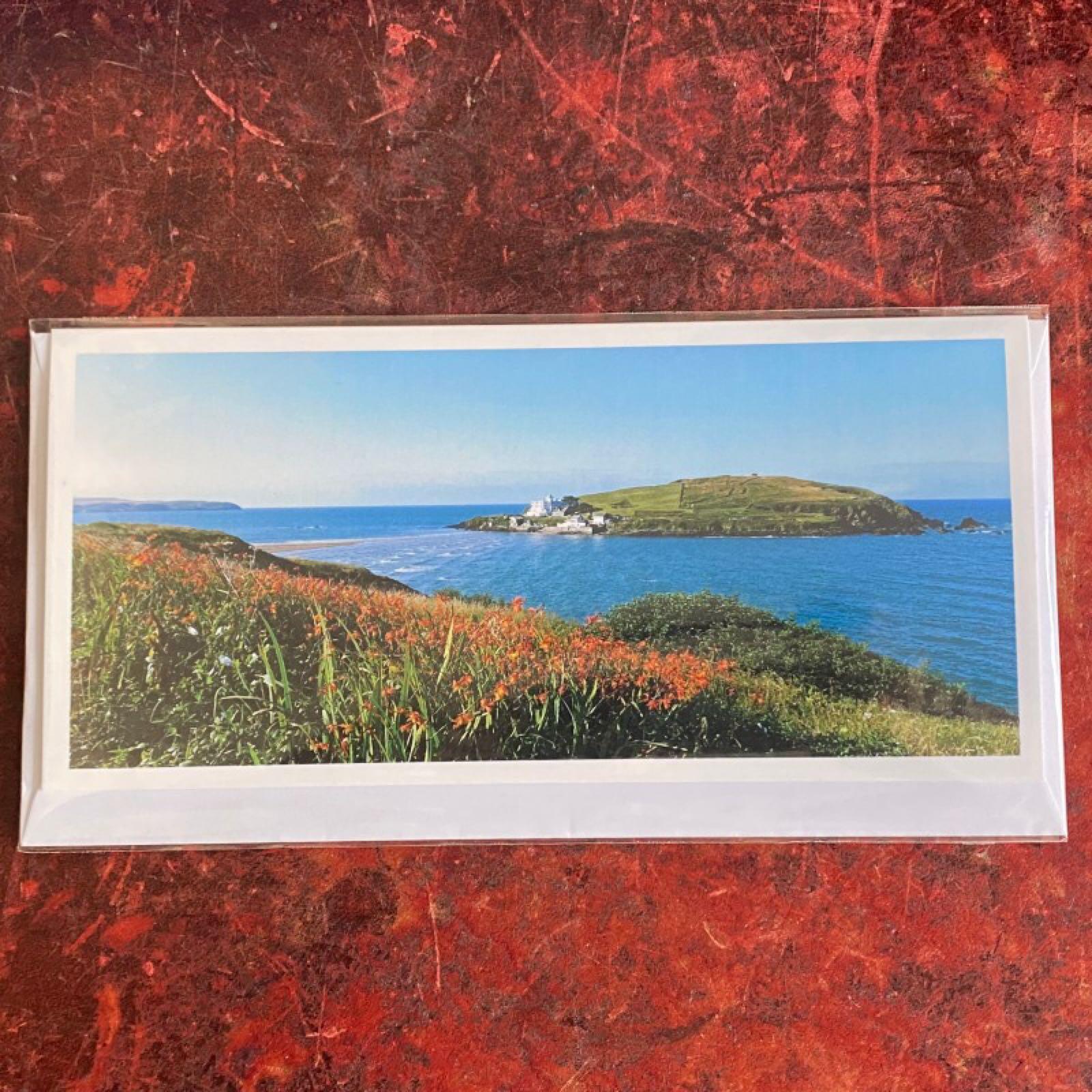 'Burgh Island' Blue Morpho Card (Was £2.75)