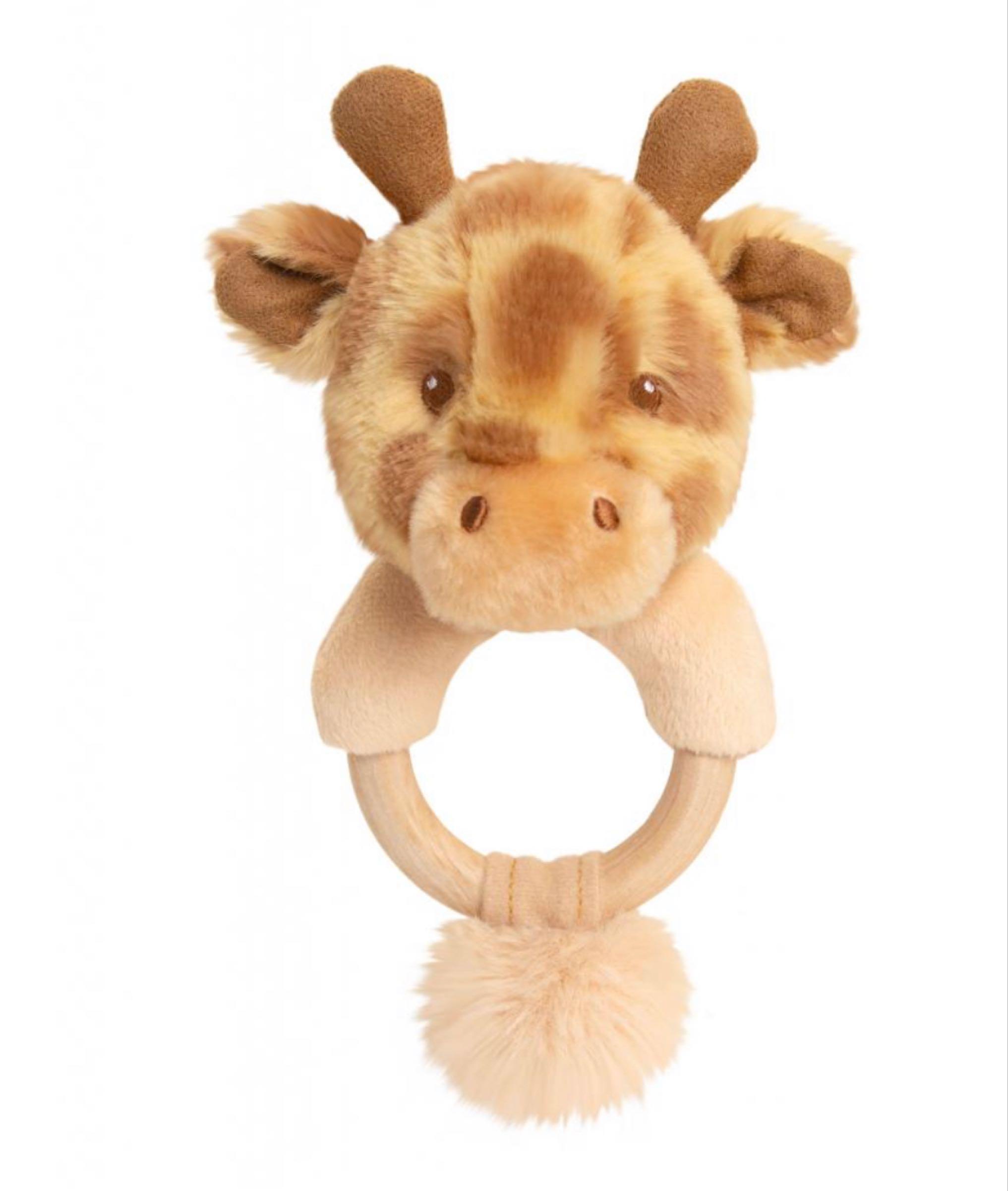 14cm Eco Huggy Giraffe Ring Rattle