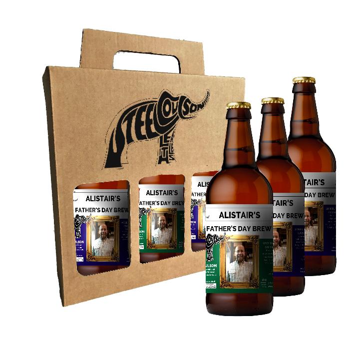 Personalized 3 Bottle Gift Box