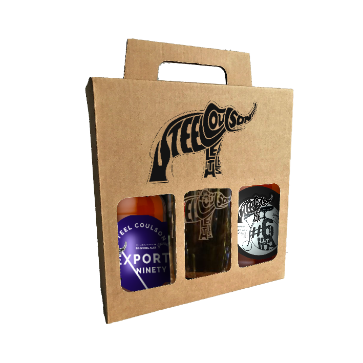 Steel Coulson beers + pint glass gift box