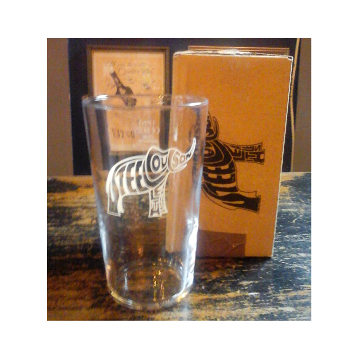 Steel Coulson pint glass in gift box