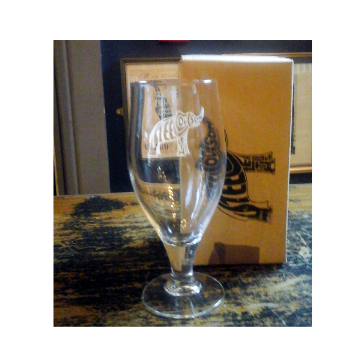 Steel Coulson stemmed Half Pint glass in gift box