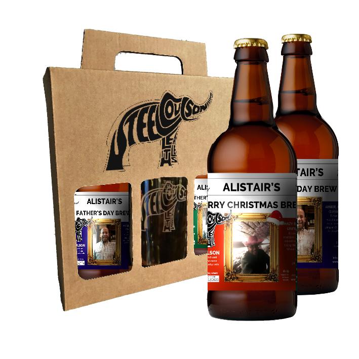 Personalized bottles & glass gift box