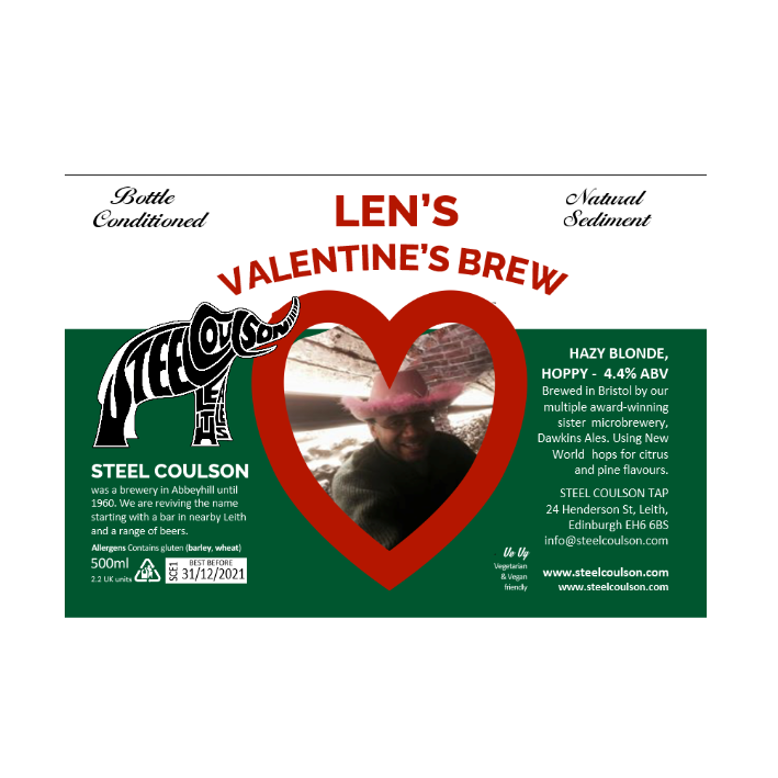 Personalized Valentine's Beer + Glass Gift Box