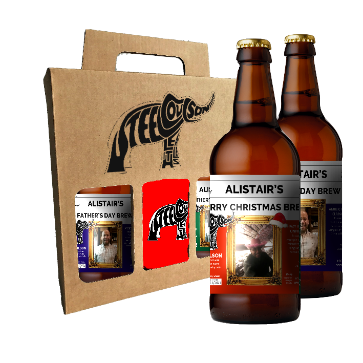 Personalized Bottles + Red T-shirt Gift Box