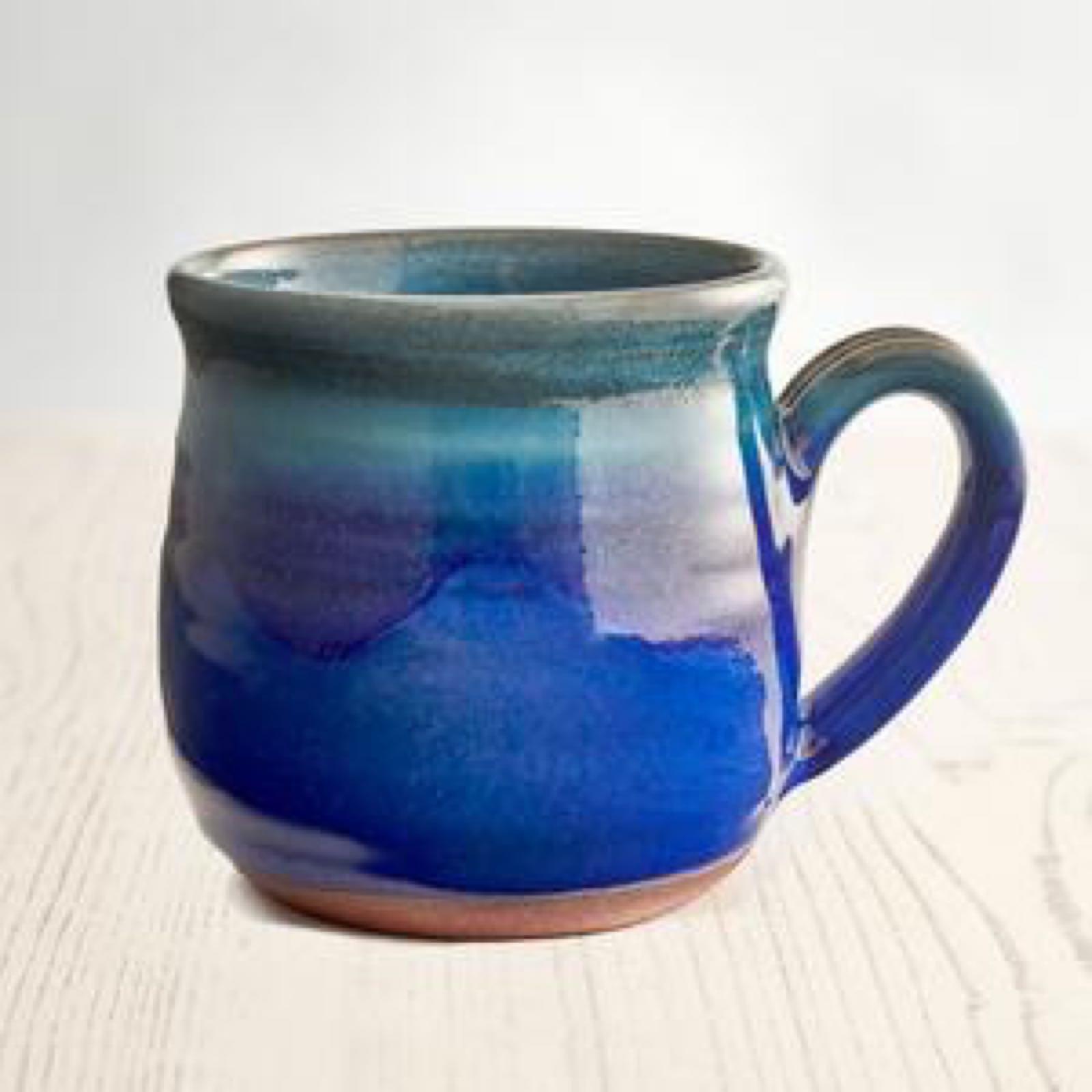 Deep Sea Blue Mug by Rupert Blamire
