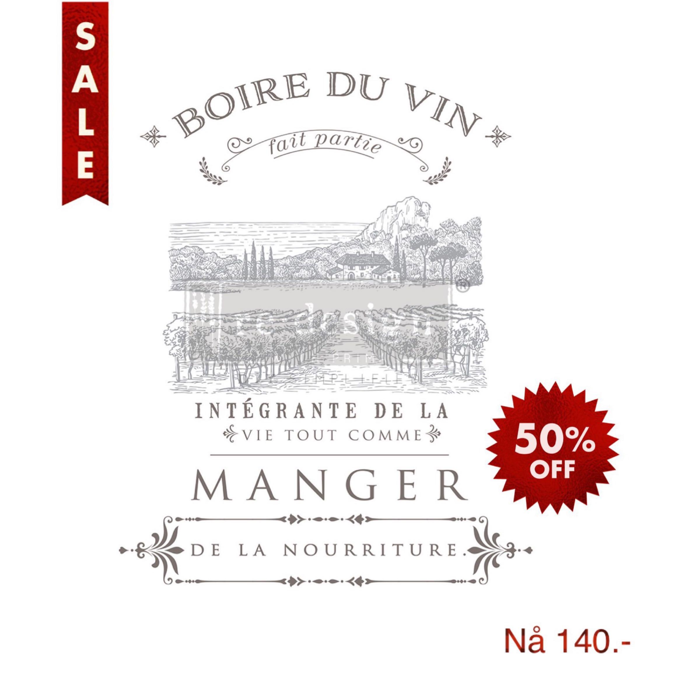 Re-Design with Prima Decor Transfer - Boire Du Vin