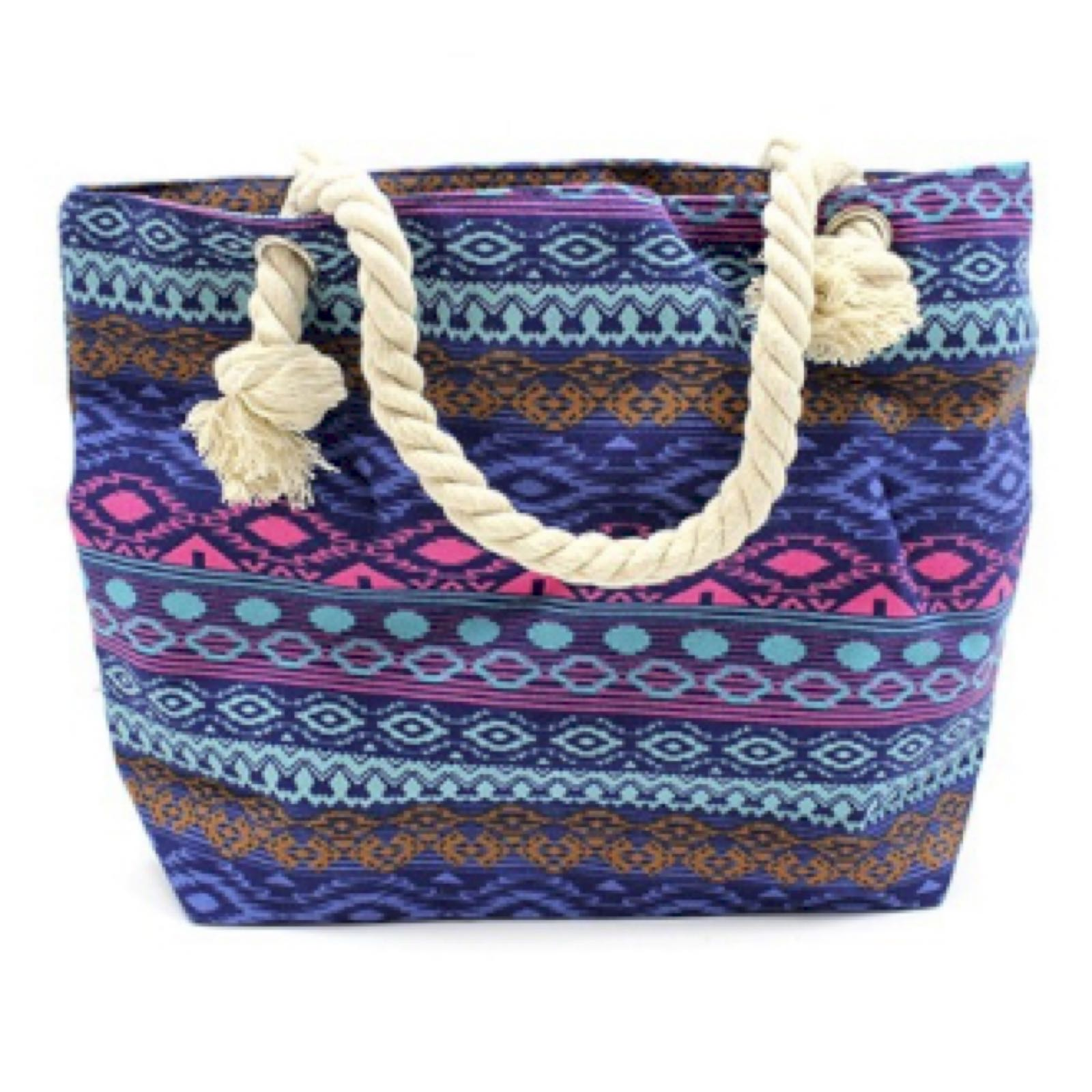 'Bali Blues' Rope Handle Bag