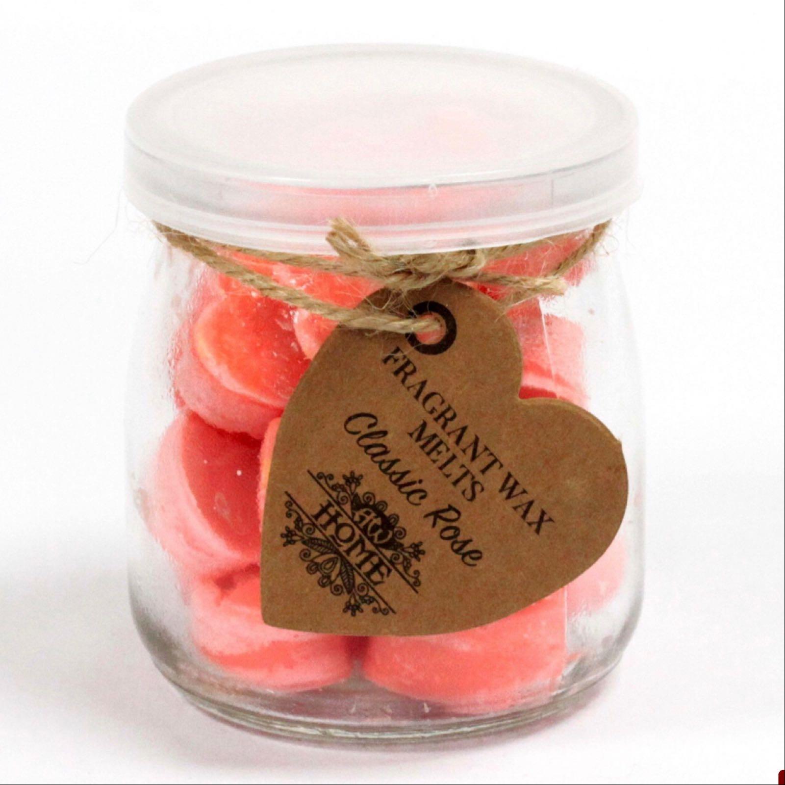 Classic Rose Wax Melts Jar (Was £6.50)