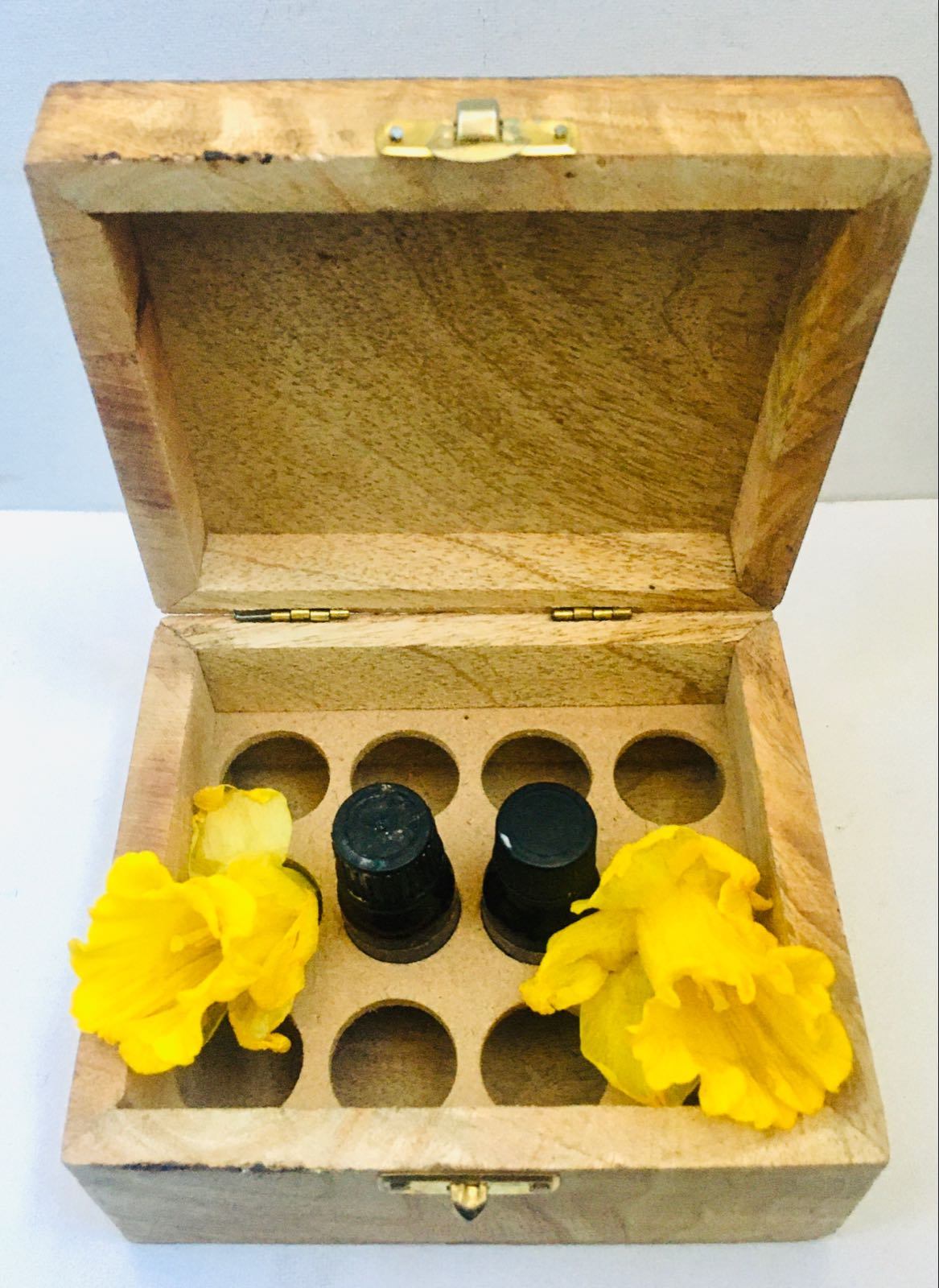 Essential Oil Carrier Wooden Box