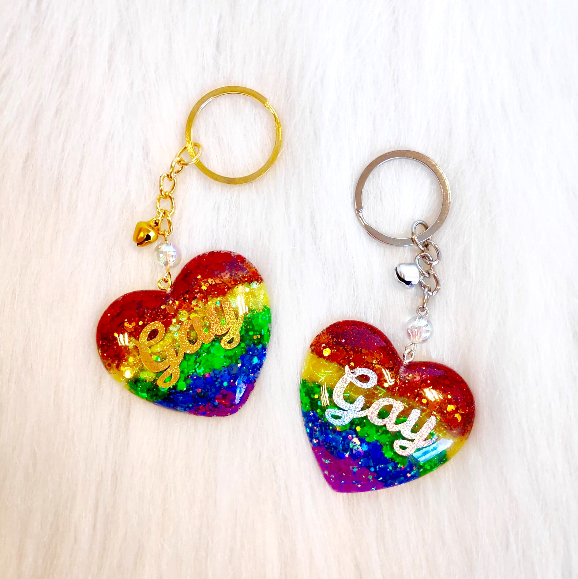 Pride Heart Keychain - Gay