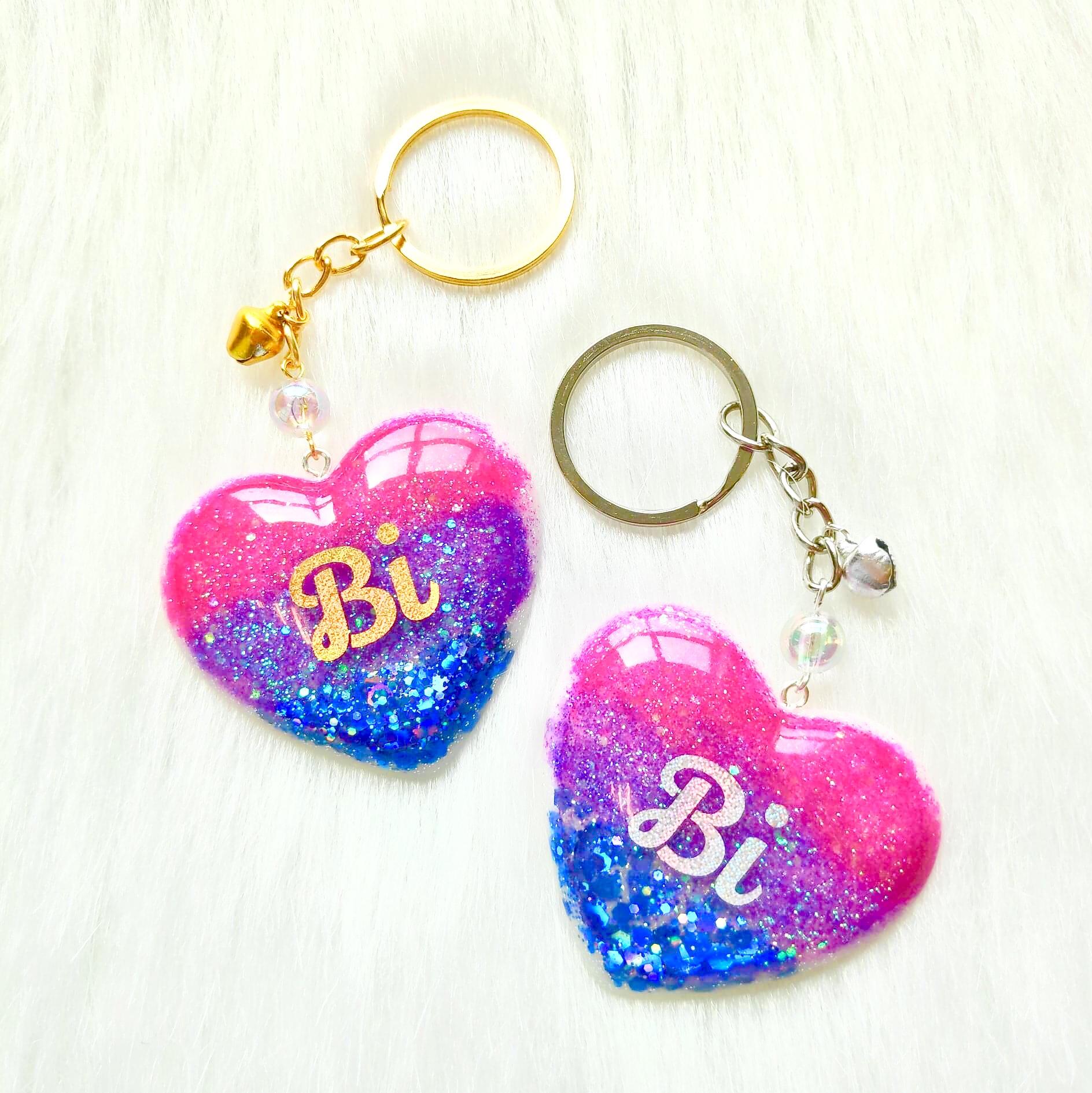 Pride Heart Keychain - Bisexual