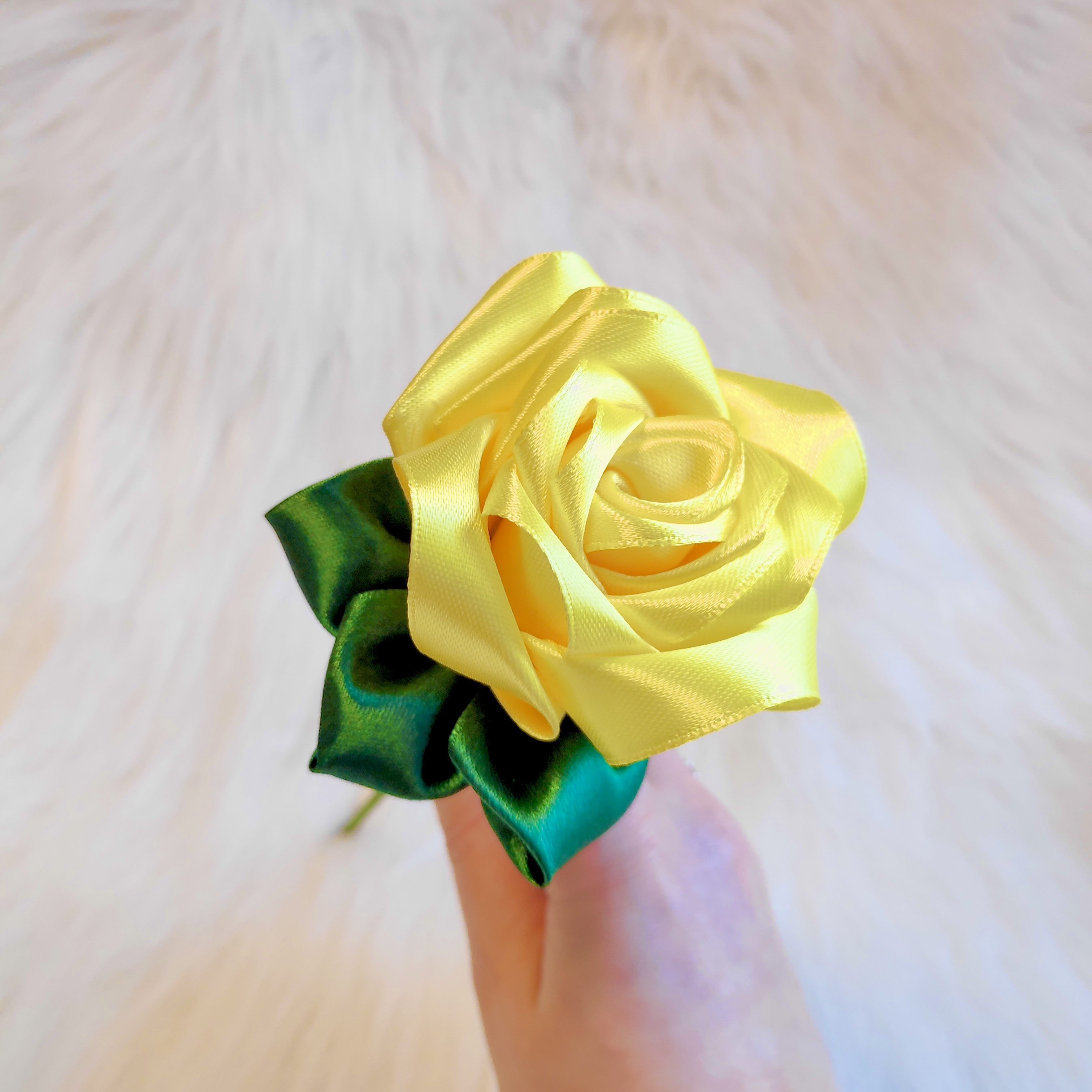Yellow Satin Rose