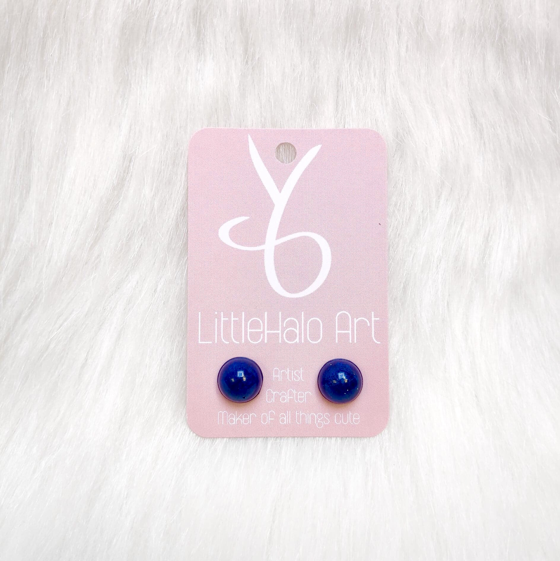 Blue Pearlescent Earrings