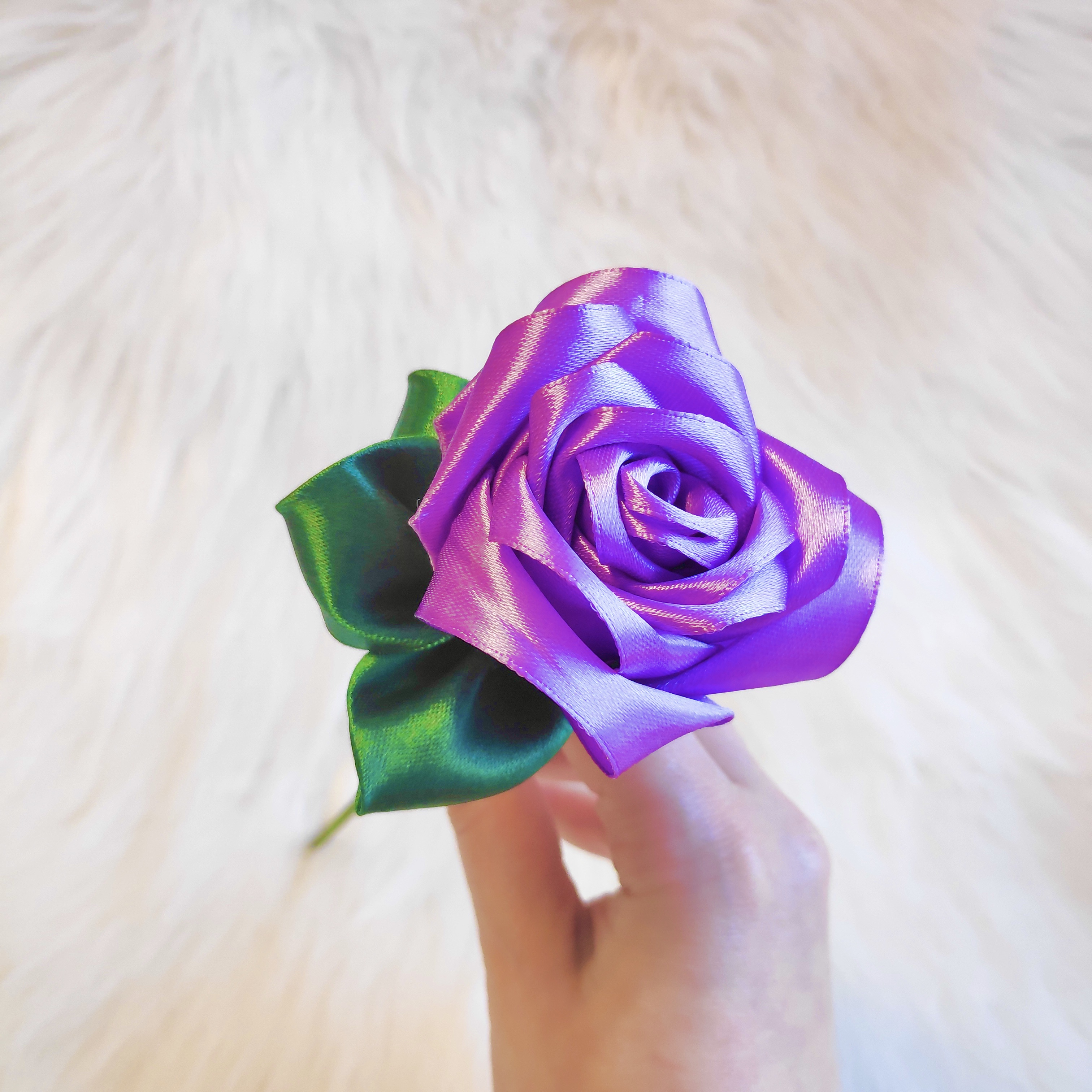 Pastel Purple Satin Rose