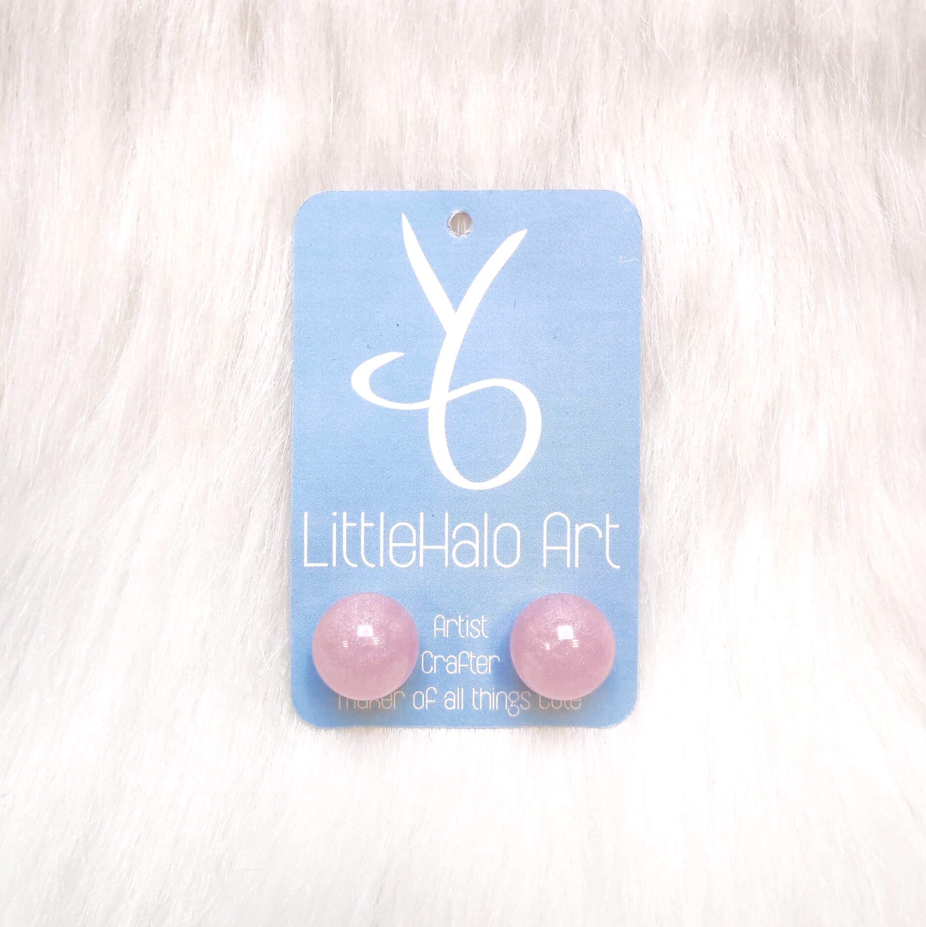 Pink Pearlescent Earrings