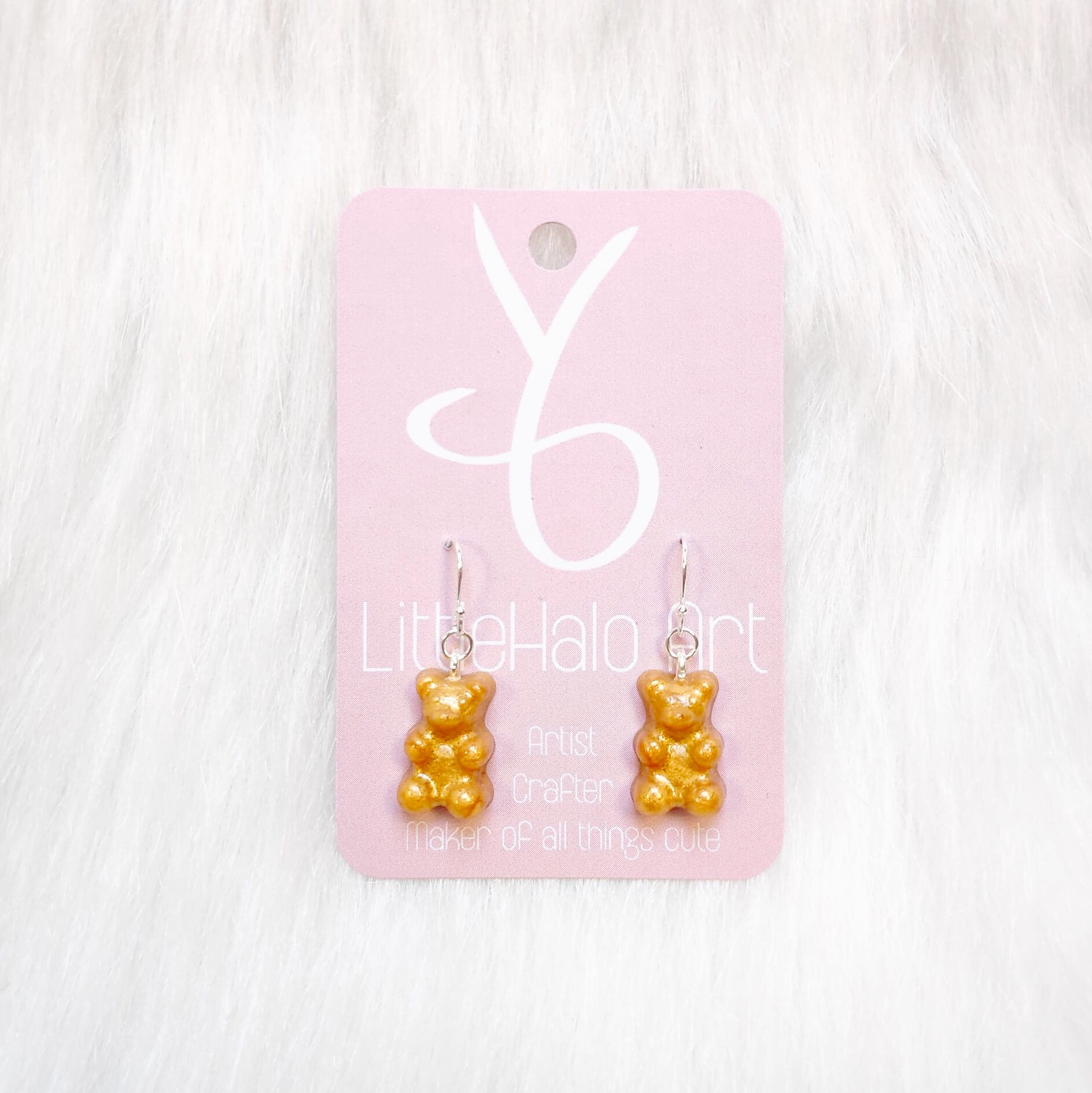 Gold Gummy Bear Earrings