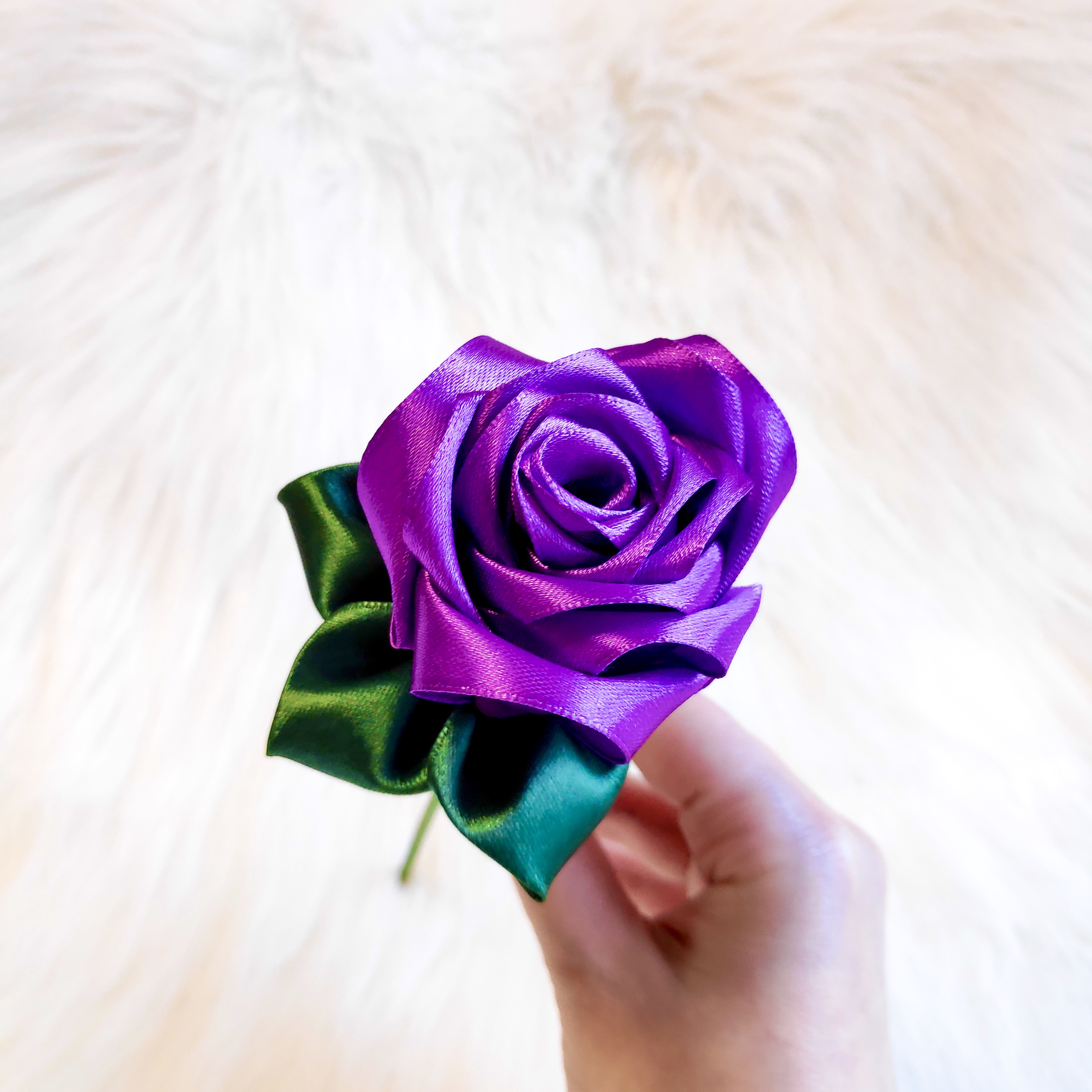 Purple Satin Rose