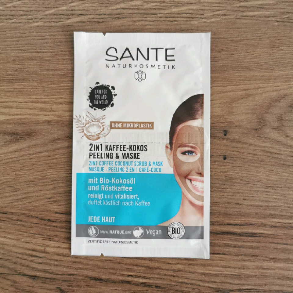 Sante 2 i 1 Skrubb & Mask - Kaffe och Kokos