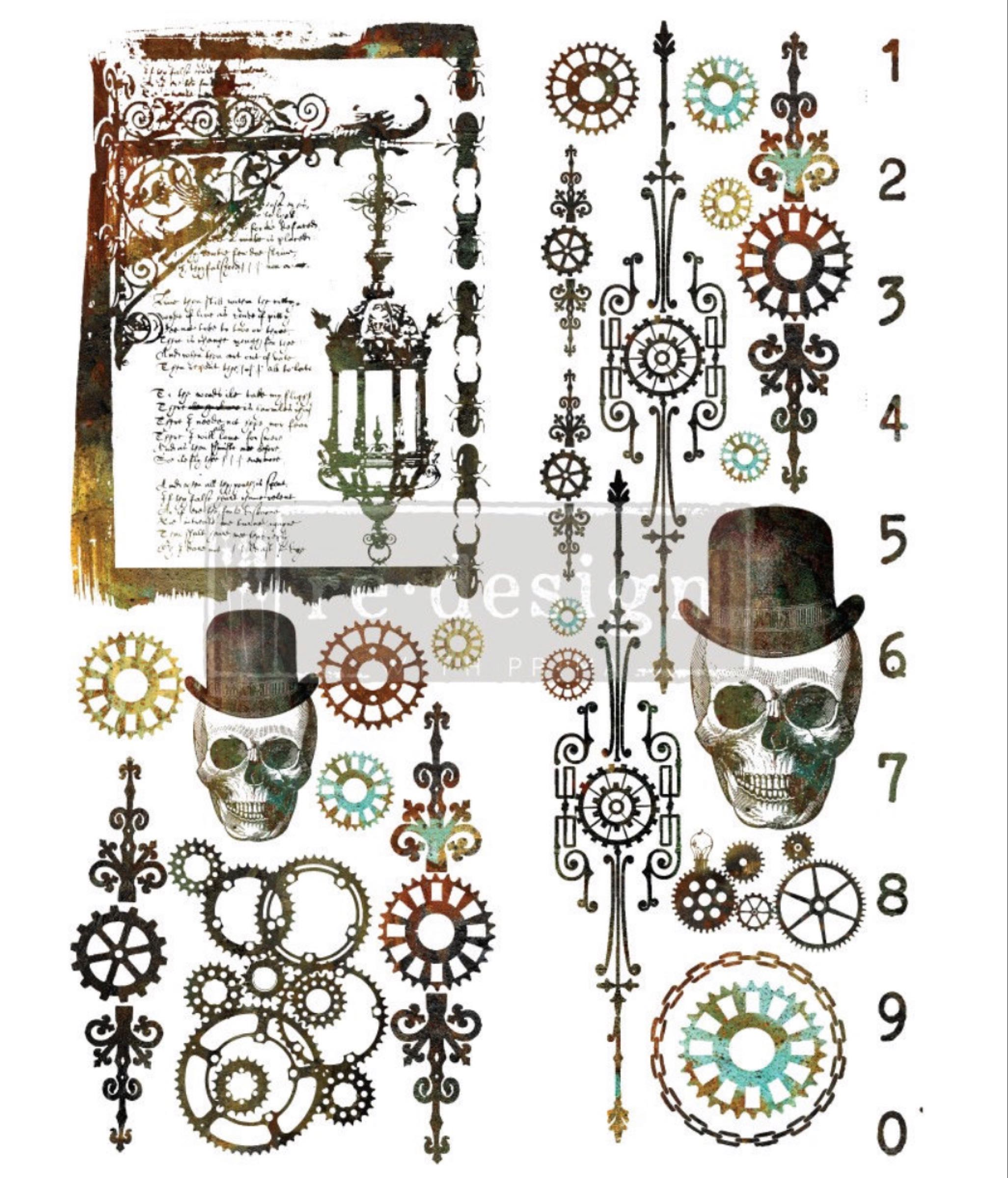 Re-design with Prima Decor Transfer - Steampunk OUT OF STOCK