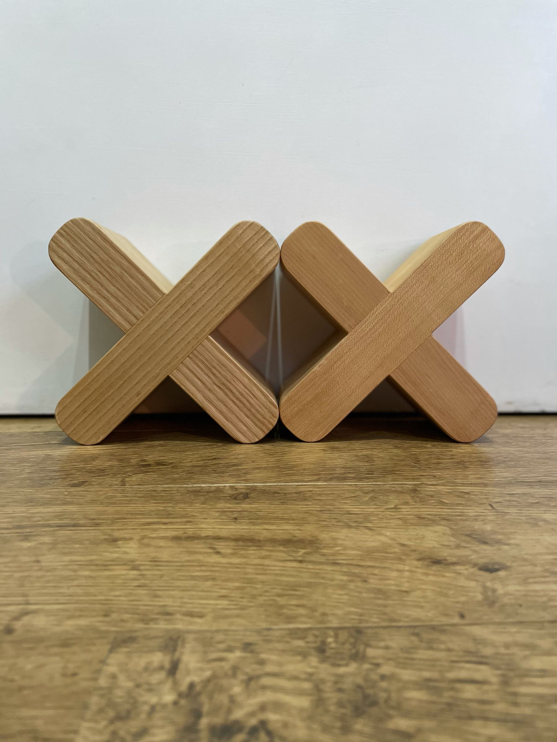 Turleigh Bookends in oak by Charlie Caffyn
