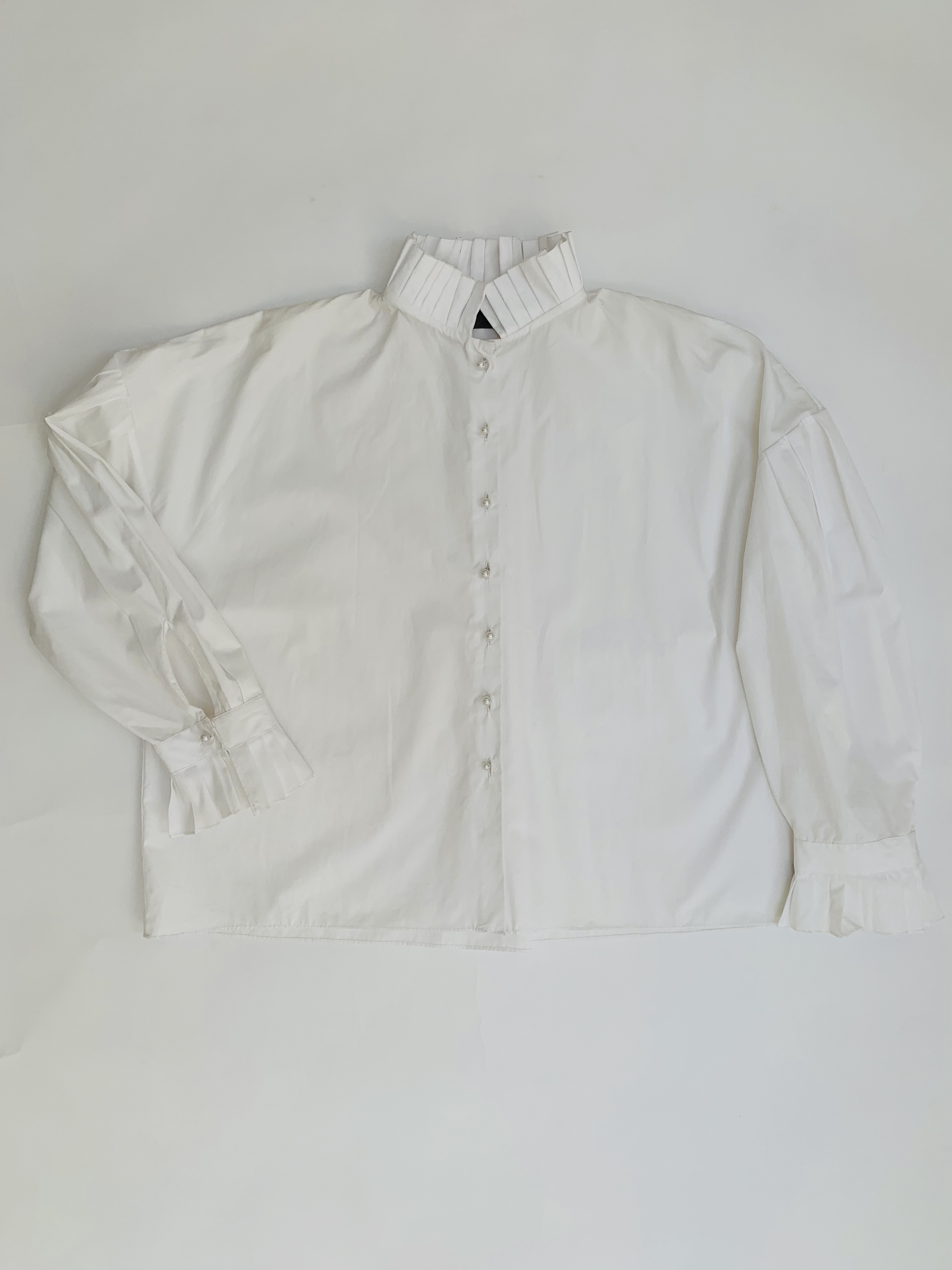 Pleated Poet Blouse