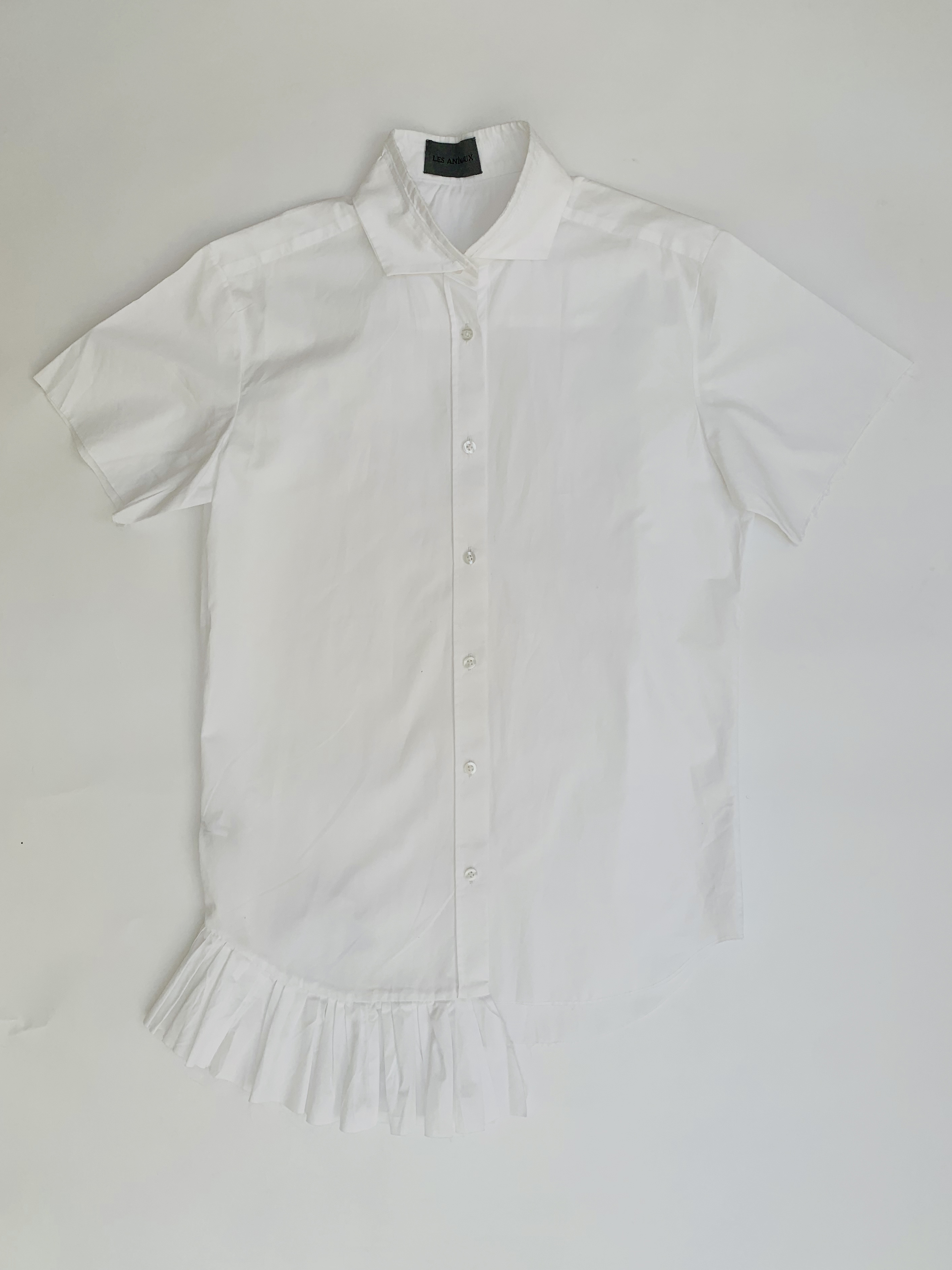 Short Sleeved Double Collared Shirt