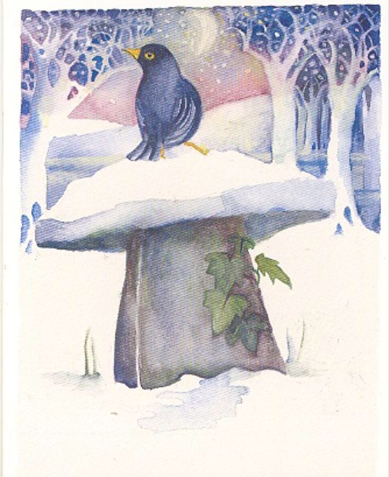 'Blackbird Singing in the Dead of Night' Furzedown Gallery Mini Card