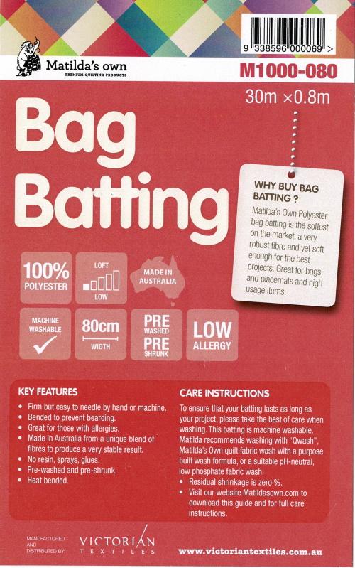 Matilda`s own Bag batting