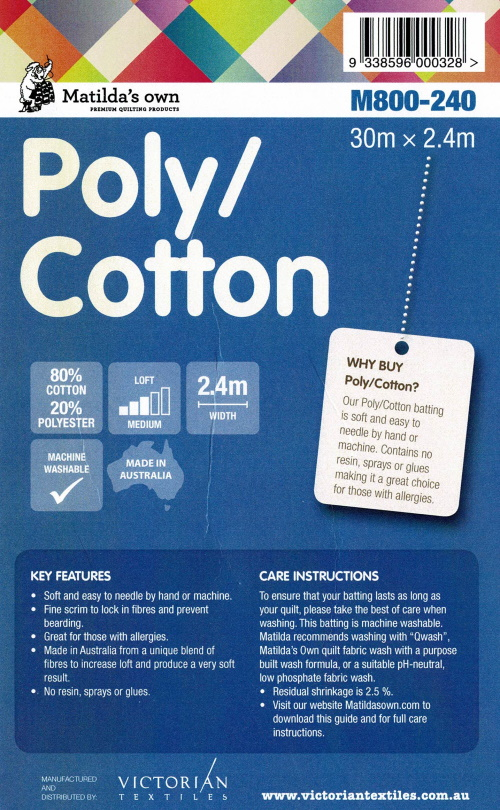 Matilda`s Own Poly/Cotton