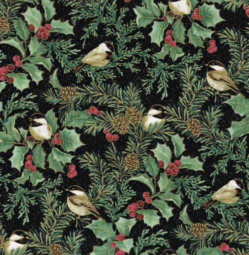 Festive chickadees fåglar