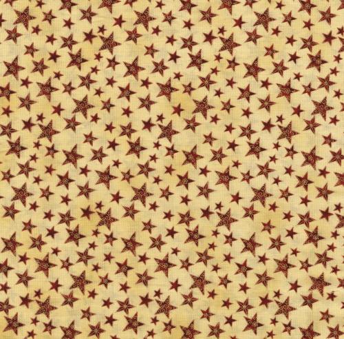 30 cm x 110 cm röd stjärna beige botten