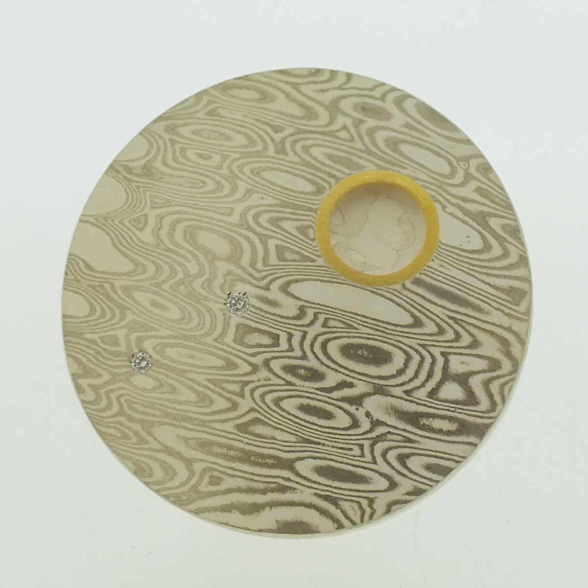 Mokume Gane Brooch: TRANSITION