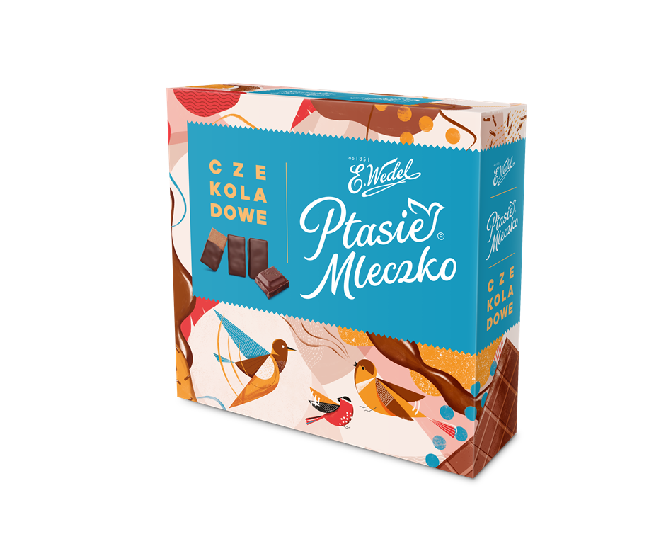 Linnunmaitokonvehti, suklaa - Ptasie mleczko czekoladowe E. Wedel 380g