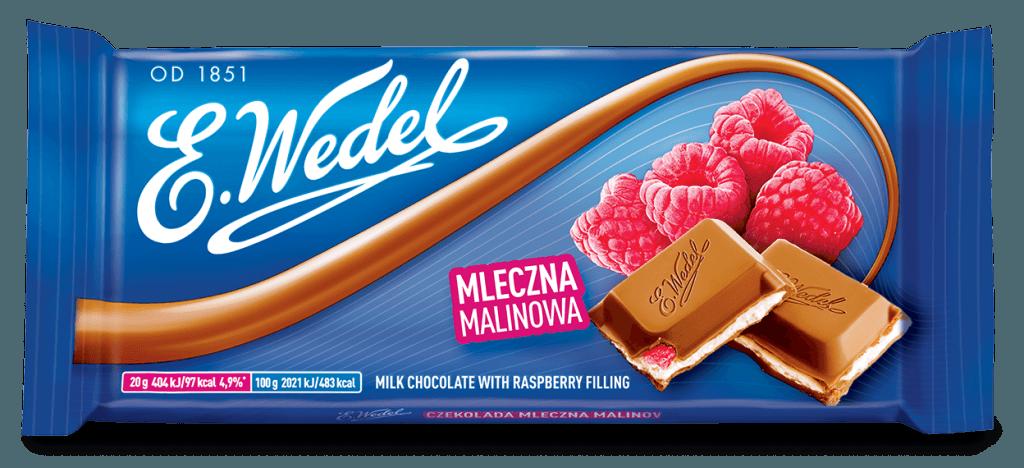 E. Wedel Vadelma maitosuklaa 100g