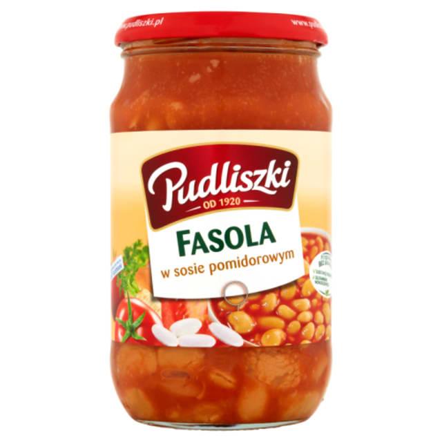 Papuja tomaattikastikkeessa - Fasola w sosie pomidorowym Pudliszki 600g