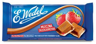 E. Wedel Mansikka maitosuklaa 100g