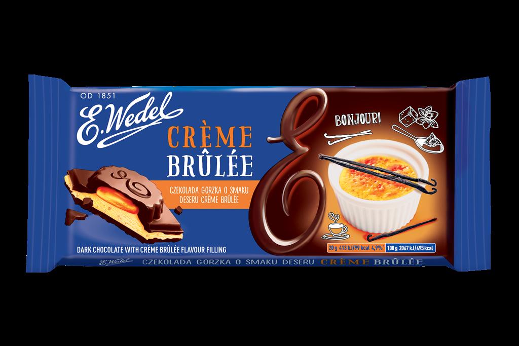 E. Wedel Crème brûlée tummasuklaa 100g