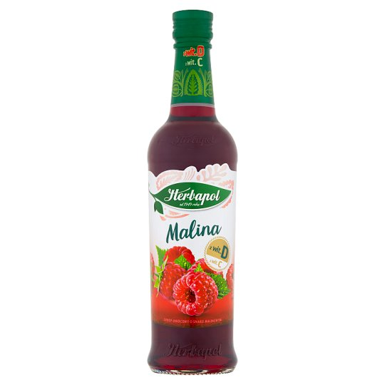 Vadelmamehutiiviste - Syrop owocowy o smaku malinowym Herbapol 420ml
